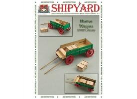 Сборная картонная модель Shipyard телега (№69), 1/72