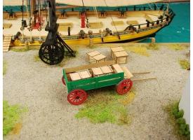 Сборная картонная модель Shipyard телега (№69), 1/72 1
