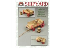 Сборная картонная модель Shipyard телега с бочками (№80), 1/72