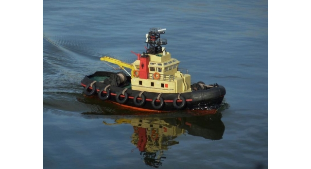 Р/У катер буксир Heng Long Seaport Work Boat 1/20 RTR 3
