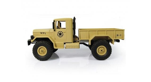 Р/У машина WPL военный грузовик (песочный) 1/16+акб 2.4G RTR 2