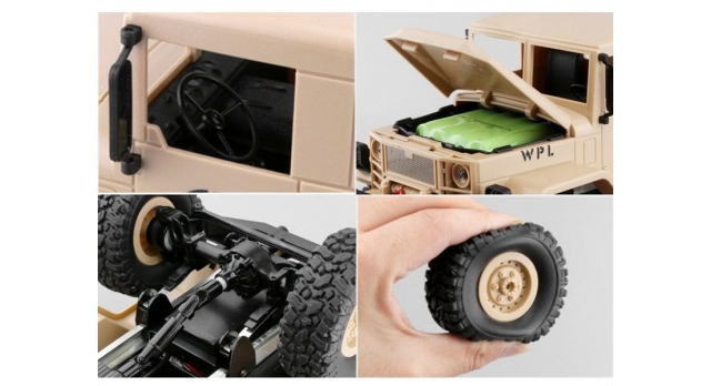Р/У машина WPL военный грузовик (песочный) 1/16+акб 2.4G RTR 7