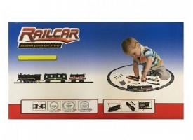 Железная дорога HQ 350 деталей, с локомотивом на батарейках, вагоны черный и черный 1