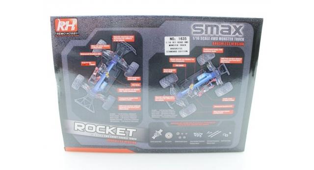Радиоуправляемый монстр Remo Hobby SMAX Brushless 4WD 2.4G 1/16 RTR 17