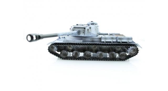 Р/У танк Taigen 1/16 ИС-2 модель 1944, СССР, зимний, (для ИК танкового боя) 2.4G 2