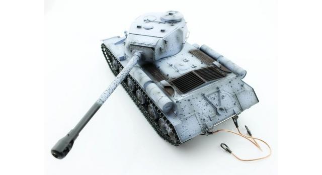 Р/У танк Taigen 1/16 ИС-2 модель 1944, СССР, зимний, (для ИК танкового боя) 2.4G 3