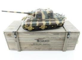 Р/У танк Torro Jagdtiger (Metal Edition) 1/16 2.4G, ВВ-пушка, деревянная коробка