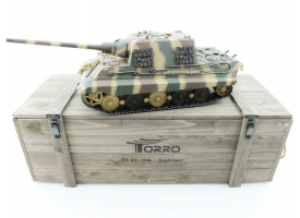 Р/У танк Torro Jagdtiger (Metal Edition) 1/16 2.4G, ИК-пушка, деревянная коробка