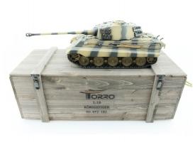 Р/У танк Torro King Tiger (башня Henschel) 1/16 2.4G, ИК-пушка, деревянная коробка