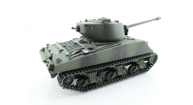 Р/У танк Torro Sherman M4A3 76mm, 1/16 2.4G, ИК-пушка, деревянная коробка 4