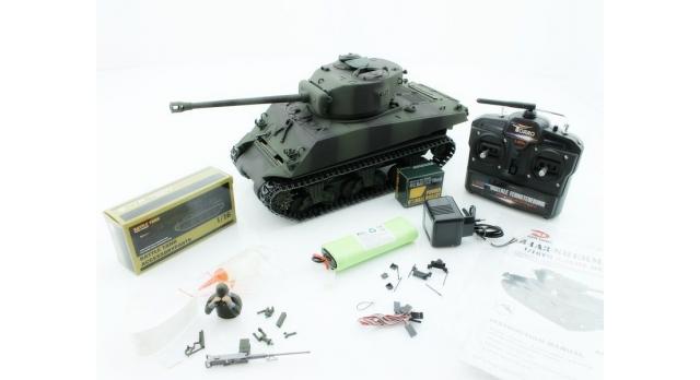 Р/У танк Torro Sherman M4A3 76mm, 1/16 2.4G, ИК-пушка, деревянная коробка 10