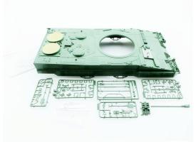 Верхняя часть корпуса с комплектом аксессуаров для танка Leopard 2A6, неокрашеная.