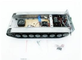 Металлическое шасси для танка Leopard 2A6 (full set, редуктора, электроника)