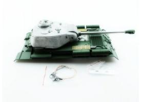 Верхняя часть корпуса с металлической башней на 360° для танка ИС-2 с ИК-пушкой, неокрашена
