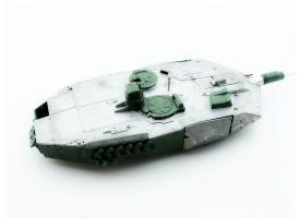 Металлическая башня для танка Leopard 2A6 c ИК-пушкой и вращением на 360°, неокрашеная 1