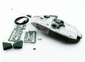 Металлическая башня для танка Leopard 2A6 c BB-пушкой и вращением на 360°, неокрашеная 1