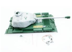 Верхняя часть корпуса с металлической башней на 360° для танка Taigen ИС-2 с ВВ-пушкой, неокрашена