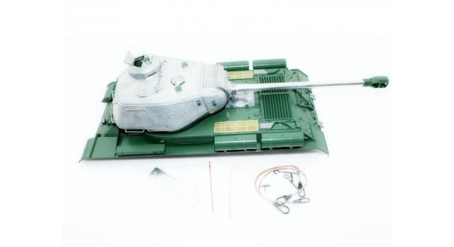 Верхняя часть корпуса с металлической башней на 360° для танка Taigen ИС-2 с ВВ-пушкой, неокрашена 1