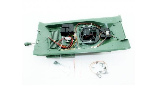 Верхняя часть корпуса с металлической башней на 360° для танка Taigen ИС-2 с ВВ-пушкой, неокрашена 2