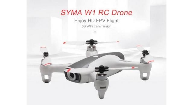 Р/У квадрокоптер Syma W1 brushless с FPV трансляцией Wi-Fi, барометр, GPS, 6-AXIS, 2.4G RTF 8