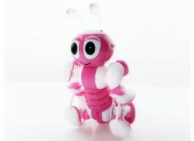 Р/У робот-муравей трансформируемый, звук, свет, танцы (розовый)