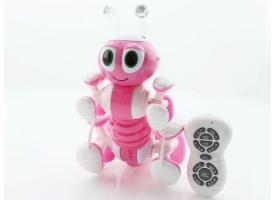 Р/У робот-муравей трансформируемый, звук, свет, танцы (розовый) 1
