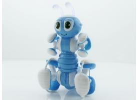 Р/У робот-муравей трансформируемый, звук, свет, танцы (синий)