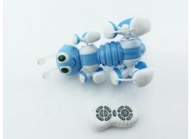 Р/У робот-муравей трансформируемый, звук, свет, танцы (синий) 1