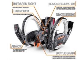 Р/У боевая машина Universe, лазер, пульки, оранжевая, Ni-Mh и З/У, 2.4G 1