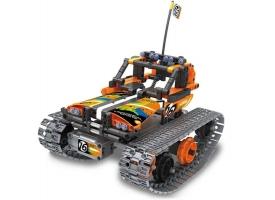 Р/У конструктор Qihui Mechanical Master Скоростной вездеход (392 детали), оранжевый