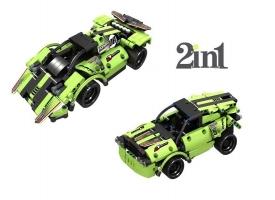 Р/У конструктор Qihui Mechanical Master 2 в 1 Гоночные автомобили (335 деталей)