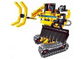 Конструктор Qihui Mechanical Master 2 в 1 Экскаватор и Робот (342 детали) 1