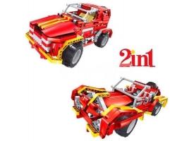 Р/У конструктор Qihui Mechanical Master 2 в 1 Джип и Родстер (472 детали)
