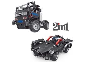 Р/У конструктор Qihui Mechanical Master 2 в 1 Тягач и Спорткар (486 деталей)