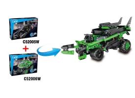 Конструктор CaDA Technic бэтмобиль совместим с C52006W, инерционный (212 деталей) 1