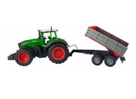 Р/У сельскохозяйственный трактор с прицепом Double Eagle 1:16
