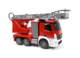 Р/У пожарная машина Double Eagle Mercedes-Benz Actros, брызгает водой 1:20 1