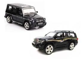 Машина XLG  TOYOTA PRADO/MERCEDES G55 M923J/M923K 1/24, свет, звук, инерция (1/8шт.) б/к