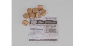Пыж ДВП (древесно-волокнистый осаленный) / 12 калибр, для латунной гильзы основной полуторный Н15 80шт. [мт-496-1]