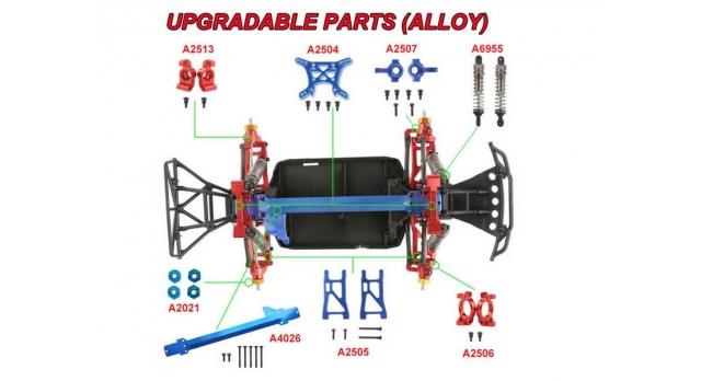 Радиоуправляемая трагги Remo Hobby S EVO-R 4WD 2.4G 1/16 RTR 6