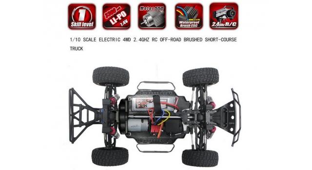 Радиоуправляемый шорт-корс Remo Hobby EX3 4WD 2.4G 1/10 RTR 9