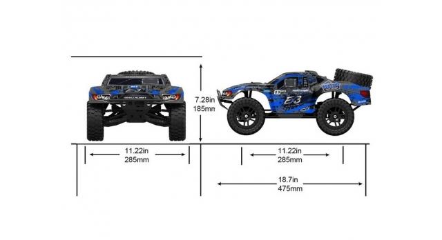 Радиоуправляемый шорт-корс Remo Hobby EX3 Brushless 4WD 2.4G 1/10 RTR 8