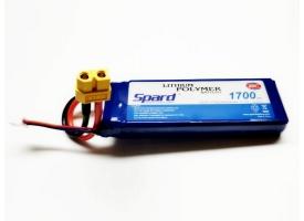 Аккумулятор Li-Po Spard 1700mAh, 11,1V, 25C, XT60