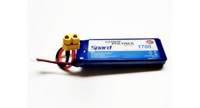 Аккумулятор Li-Po Spard 1700mAh, 11,1V, 25C, XT60 1