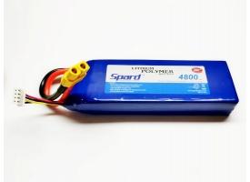 Аккумулятор Li-Po Spard 4800mAh, 11,1V, 20C, XT60
