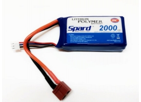 Аккумулятор Li-Po Spard 2000mAh, 7,4V, 20C, T‐plug для Remo Hobby 1/16, Himoto 1/18