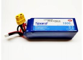 Аккумулятор Li-Po Spard 1800mAh, 22,2V, 75C, XT60