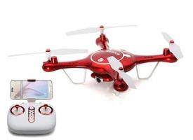 Р/У квадрокоптер Syma X5UW с FPV трансляцией Wi-Fi (HD), барометр 2.4G RTF красный