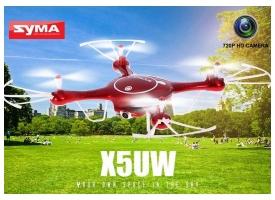 Р/У квадрокоптер Syma X5UW с FPV трансляцией Wi-Fi (HD), барометр 2.4G RTF красный 1