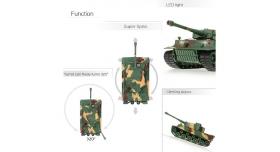 Р/У танк Heng Long 1/26 Tiger I ИК-версия, ИК пульт, акб, RTR 8